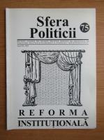 Anticariat: Revista Sfera Politicii, anul VII, nr. 75, 1999