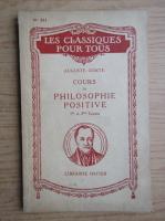 Auguste Comte - Cours de philosophie positive (1941)