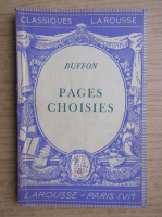Anticariat: Buffon - Pages choisies (1939)