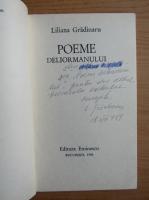 Anticariat: Liliana Gradinaru - Poeme deliormanului (cu autograful autorului)