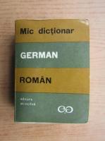 Anticariat: Mic dictionar german roman