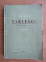 Anticariat: Culegere de texte literare. Manual pentru clasa a VIII-a (1956)