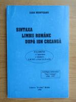 Anticariat: Ioan Munteanu - Sintaxa limbii romane dupa Ion Creanga