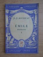 Anticariat: Jean Jacques Rousseau - Emile au de l'education (volumul 1, 1935)
