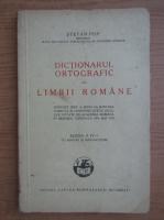 Anticariat: Pop Stefan - Dictionarul ortografic al limbii romane (1943)