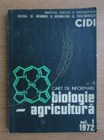 Anticariat: Caiet de informare, volumul 1. Biologie, agricultura