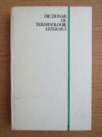 Mircea Anghelescu - Dictionar de terminologie literara