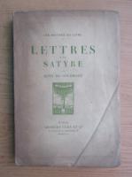 Anticariat: Remy de Gourmont - Lettres d'un satyre (1913)