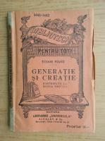 Anticariat: Tudor Vianu - Generatie si creatie (1920)