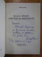 Anticariat: Bazil Gruia - Blaga inedit. Amintiri si documente (cu autograful autorului)