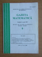 Anticariat: Gazeta matematica, anul CV, nr. 9, 2000