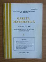 Anticariat: Gazeta matematica, anul CVII, nr. 4, 2002