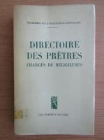 Directoire des pretres. Charges de religieuses