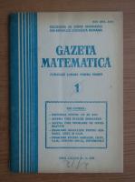 Anticariat: Gazeta matematica, anul LXXXVI, nr. 1,1981