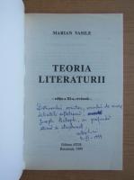 Marian Vasile - Teoria literaturii (cu autograful autorului)