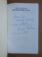 Anticariat: Simona Kiselevski - Recviem pentru suflet (cu autograful autoarei)