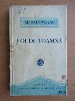 Anticariat: Mihail Sadoveanu - Foi de toamna (1921)