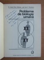 Victor Sahleanu - Probleme de biologie umana (cu autograful autorului)