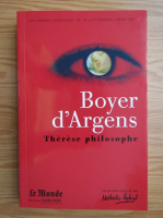Anticariat: Boyer d'argens. Therese philosophe