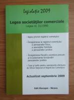 Anticariat: Legislatie 2009. Legea societatilor comerciale