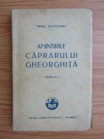 Anticariat: Mihail Sadoveanu - Amintirile caprarului Gheorghita (1927)