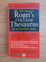 Anticariat: The new American Roget's college thesaurus in dictionary form
