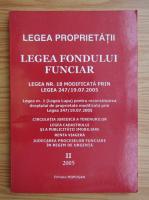 Anticariat: Legea propietatii. Legea fondului funciar 2005