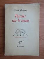 Etienne Decroux - Paroles sur le mime