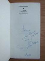 Ion Tobosaru - Consemnari. Arta teatrului contemporan (cu autograful autorului)