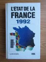 L'etat de la France
