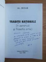 Al. Husar - Traditii nationale (cu autograful autorului)
