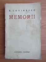 E. Lovinescu - Memorii (volumul 1, 1930)