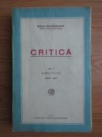 Mihail Dragomirescu - Critica (volumul 1, 1927)