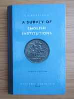 Anticariat: C. A. Bodelsen - A survey of english institutions