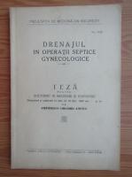 Anticariat: Drenajul in operatii septice gynecologice (1940)