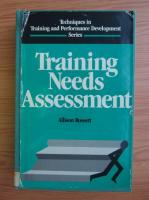 Anticariat: Allison Rossett - Training needs assessment
