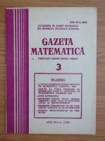Anticariat: Gazeta Matematica, anul XCII, nr. 3, 1987