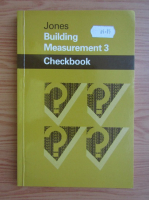Anticariat: T. F. Jones - Building measurement 3. Checkbook