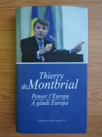 Thierry De Montbrial - Pense l'Europe (editie bilingva)