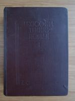 Anticariat: Lexicul tehnic roman (volumul 1, 1949)