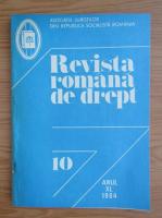 Anticariat: Revista romana de drept, anul XL, nr. 10, 1984