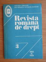 Anticariat: Revista romana de drept, anul XL, nr. 3, 1984