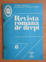 Anticariat: Revista romana de drept, anul XL, nr. 6, 1984
