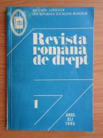 Anticariat: Revista romana de drept, anul XLI, nr. 1, 1985