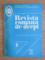 Anticariat: Revista romana de drept, anul XLII, nr. 4, 1986