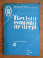 Anticariat: Revista romana de drept, anul XXXVIII, nr. 6, 1982