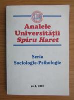 Anticariat: Analele Universitatii Spiru Haret. Seria sociologie-psihologie, nr. 1, 2000
