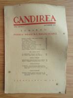 Revista Gandirea, anul XXII, nr. 8, octombrie 1943