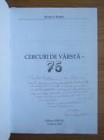 Anticariat: Barbu Marian - Cercuri de varsta. 75 (cu autograful autorului)