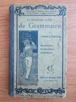 Anticariat: La troisieme annee de grammaire (1930)